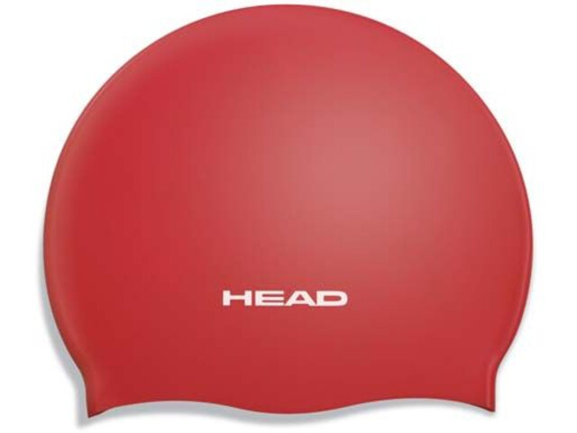 Head Silicone Moulded Swimcap red